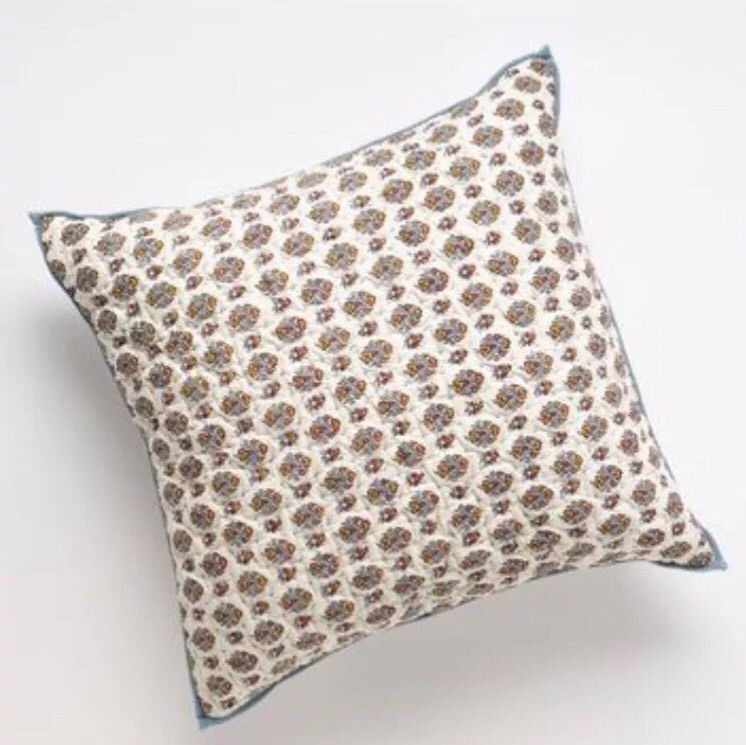 New CHAPS Home JULIETTE 40 X 40 Calico Quilted Decorative Square New Chaps Decorative Pillows