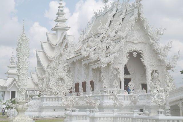 This Buddhist temple in Thailand was built by Buddhist artist Chalermchai Kositpipat in 1997.