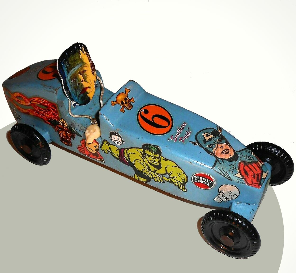 Frankenstein Monster Cub Scouts Pinewood Derby Car With Monster And