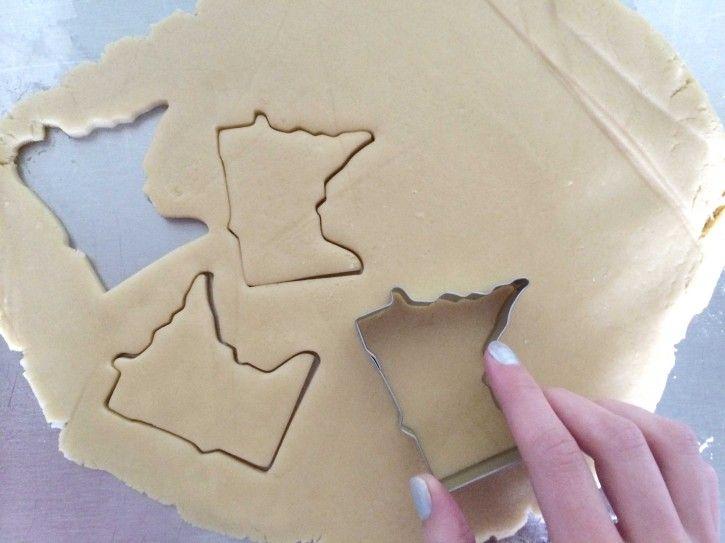 Minnesota-shaped sugar cookies!