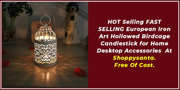 Order FAST SELLING European Iron Art Hollowed Birdcage Candlestick for Home Desktop Accessories at Free Of Cost. Shop Now! Checkout ShoppySanta Freebies Section. HURRY UP! #candlestick #candles #candlesticks #candleshop #desktoplight #hometablelight #homedecoration #homedecor #light #moonlamp #ledlight #homelight #wirelesslight #sensorlight #desklamp