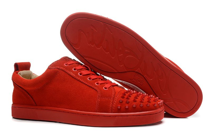 wholesale dealer b8023 23a4c good christian louboutin red spiked sneakers b91b0 7e192