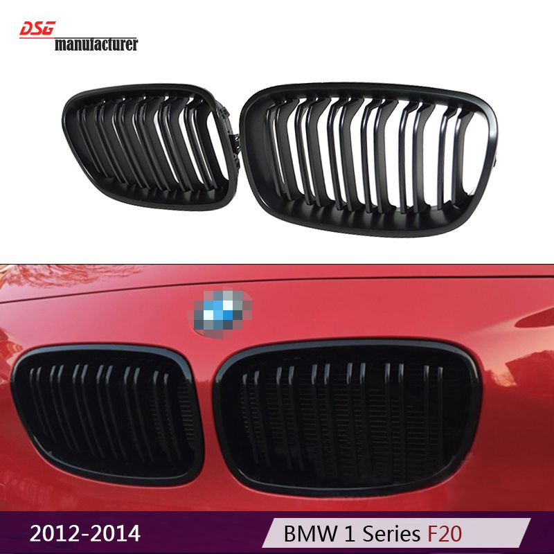 1 Series F20 2 Slat M Style Replacement Black Bumper Car Styling