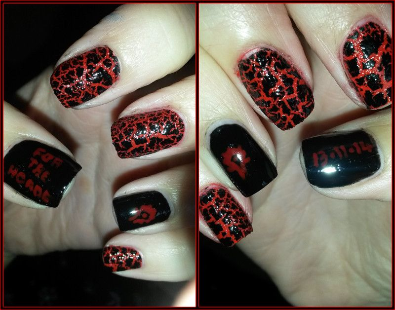 For The Horde Nail Art Done Release Of Warlords Draenor