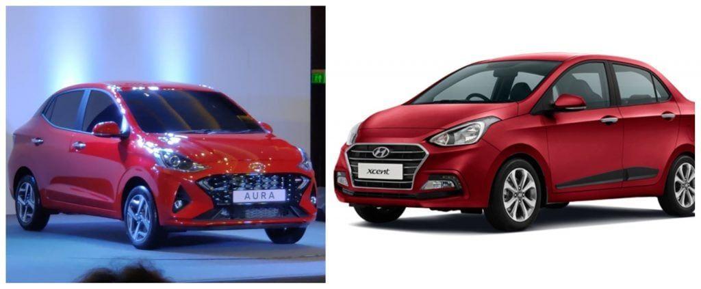 Hyundai Aura Vs Hyundai Xcent Whats New In 2020 Hyundai New Engine Aura