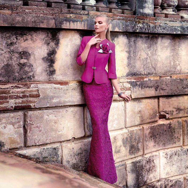 Barato Hot & venda violeta lace mãe de vestidos de noiva com jaqueta ...