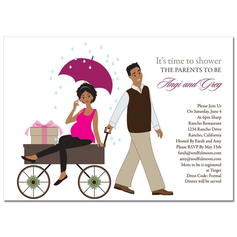 African American Baby Shower Invitations Wagon Diva Sept 16