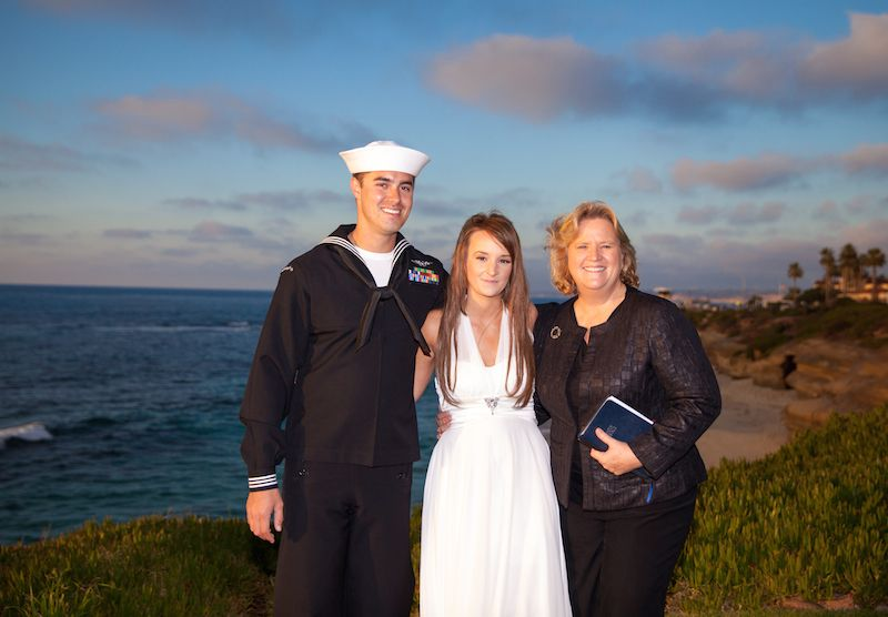 Desiree and Justin January 12, 2015 Military Mondays www.freemilitaryelopement.com Elope To La Jolla The Wedding Bowl location  Officiant: Chaplain Mary  @2015 Vows From The Heart Ministries - All Rights Reserved