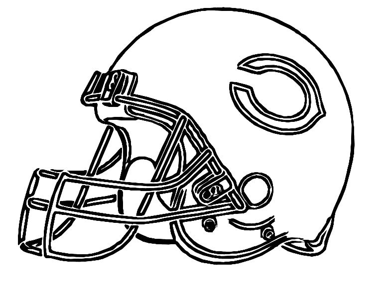 Pictures Football Helmet Chicago Bears Coloring Pages