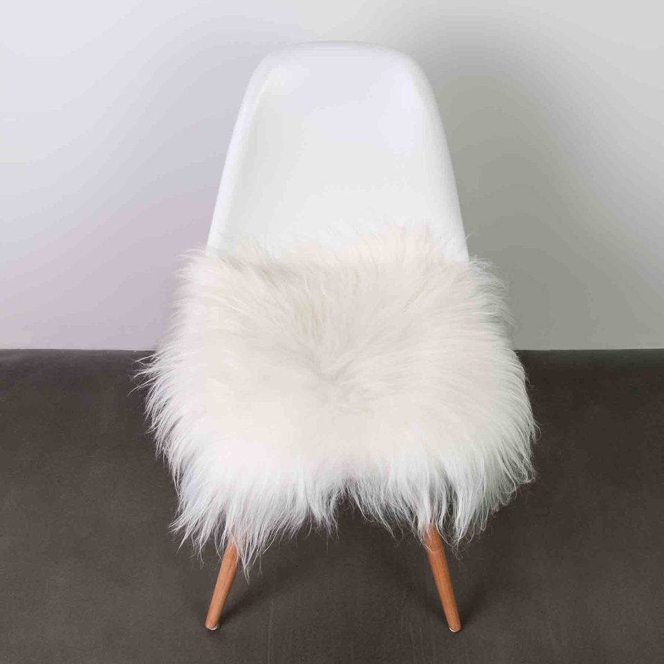 Natural 15 Icelandic Sheepskin Chair Pad In White Sheepskin Chair Chair Cushions Dining Chair Cushions