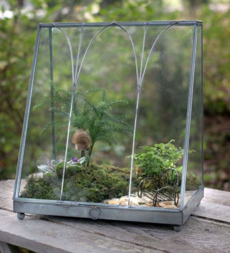 Triangle Metal Terrarium (with plants) - ARTSHOP - los angeles