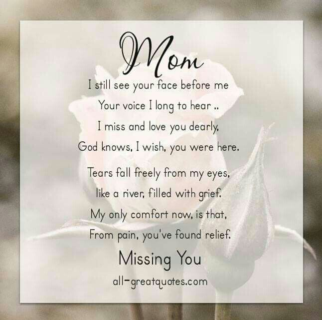 Love You Forever Mom Poems Mom Quotes Mom In Heaven Quotes