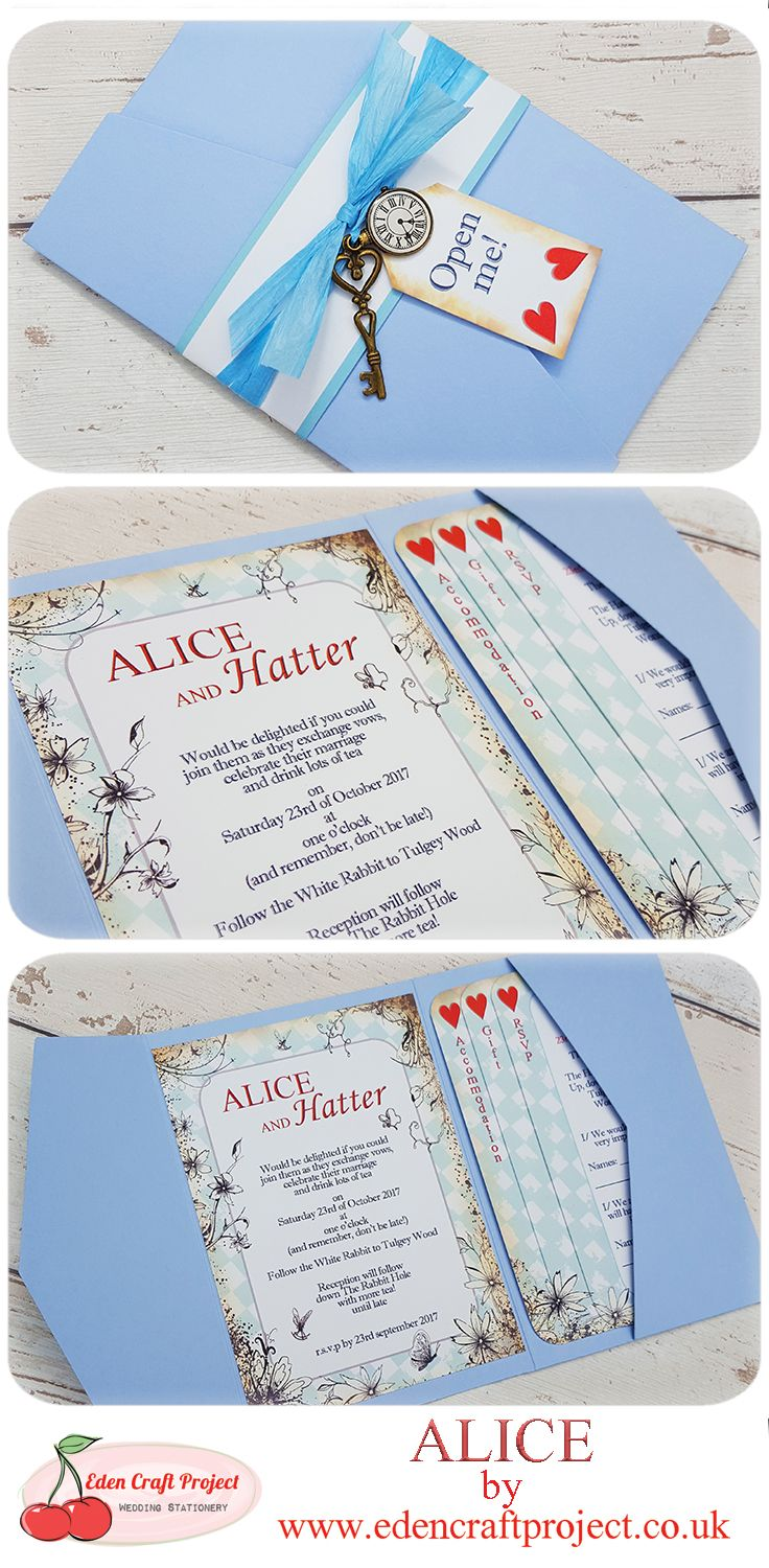 The Disney Inspired Alice In Wonderland Pocketfold Wedding ...