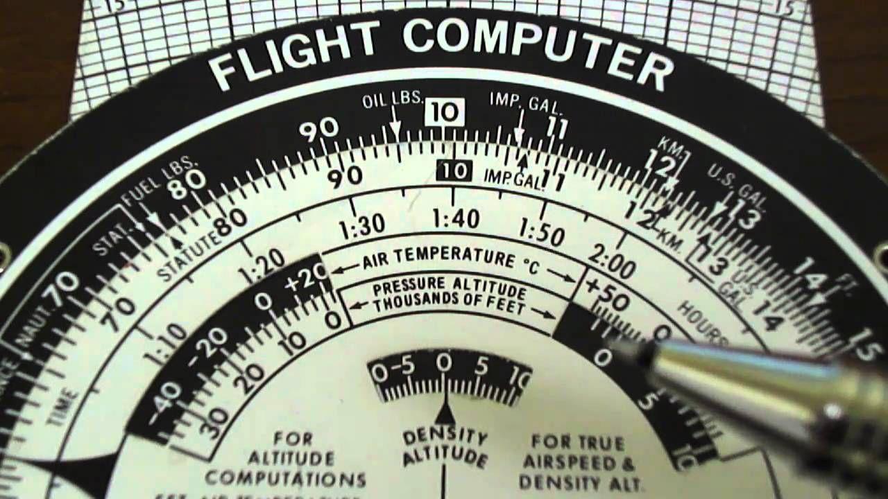 c0ddd538354 E6B Flight Computer  Density Altitude - YouTube