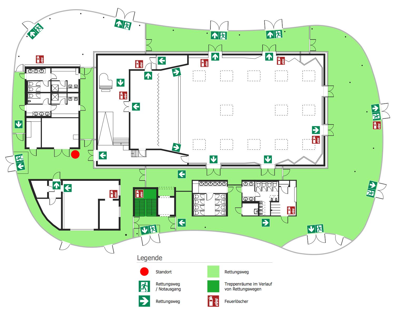 Escape and Evacuation Plan BuildingPlan FireSigns