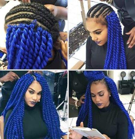 Crochet Senegalese twist.. blue!! | hair style | Pinterest