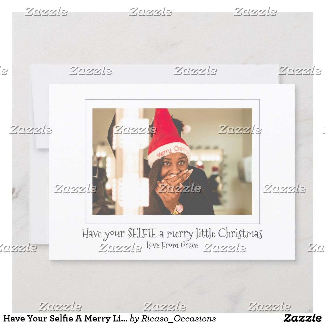 Have Your Selfie A Merry Little Christmas Holiday Card Zazzle Com Christmas Holiday Cards Holiday Design Card Merry Little Christmas