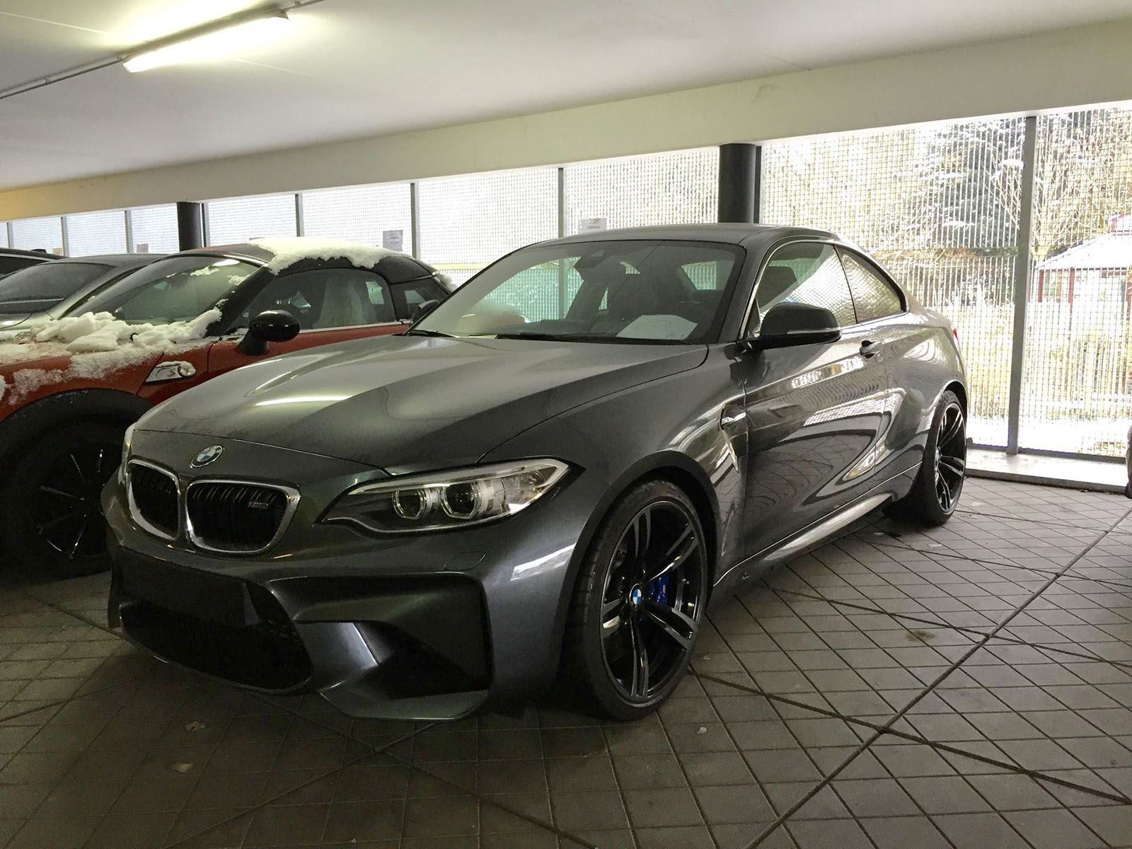 BMW M2 in Mineral Grey spotted again - http://www.bmwblog ...