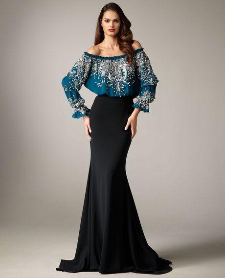 This is just Beautiful! Very feminin Very Classy!  Naeem Khan Silk Trumpet Skirt in Blue (teal) - Lyst
