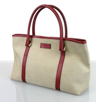 4dec2303f294 Get one of the hottest styles of the season! The Gucci Gg Handbag Canvas  Beige Tote Bag is a top 10 member favorite on Tradesy.