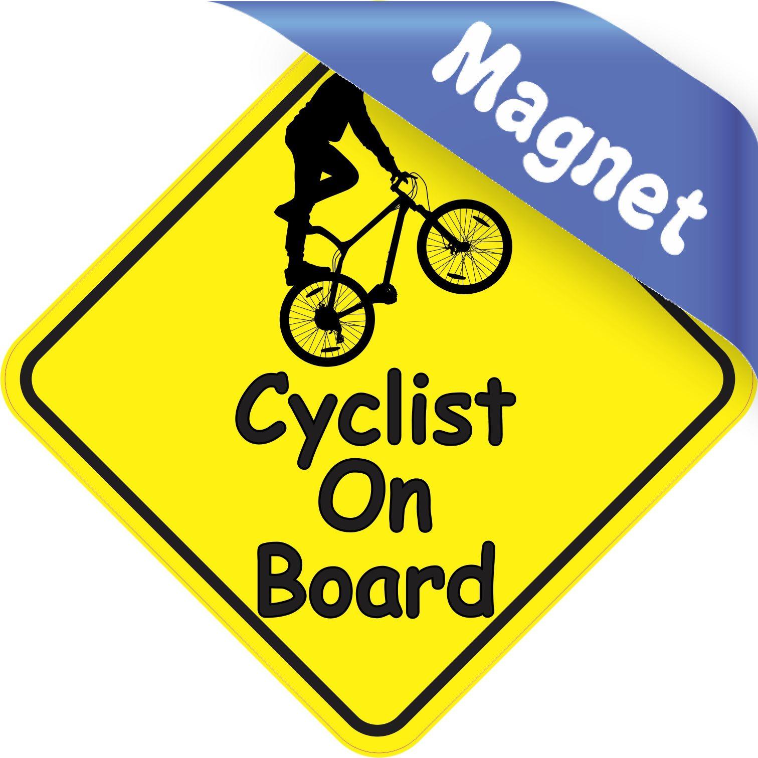 5in X 5in Male Cyclist On Board Magnet Vinyl Window Decals Bumper Stickers Bumper Magnets [ 1512 x 1512 Pixel ]
