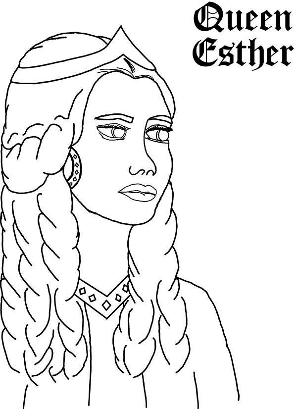 Queen Esther Picture Coloring Page Kids Play Color Unicorn Coloring Pages Coloring Pages Pokemon Coloring Pages