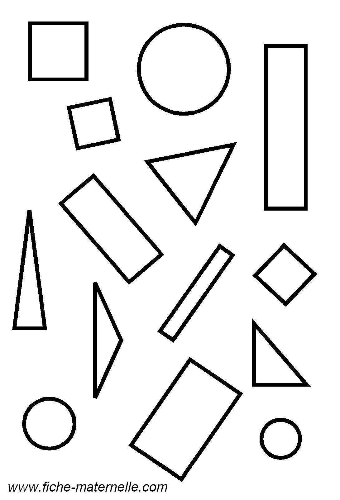 G om trie en maternelle les figures g om triques for Dessin en forme geometrique