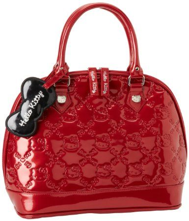 ac84b3fc700 Amazon.com  Hello Kitty SANTB0506 Satchel,Red,One Size  Clothing ...