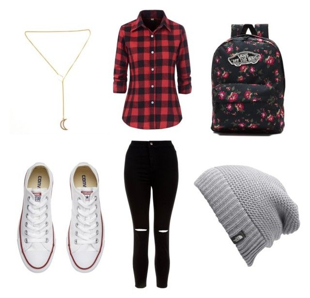 """Vans"" by brendamacarencalle on Polyvore featuring moda, New Look, Converse, Vans y The North Face"