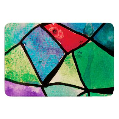 East Urban Home Stain Glass 1 by Theresa Giolzetti Bath Mat
