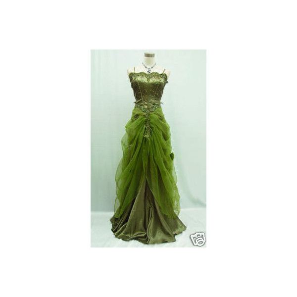 16-18 Green Evening Gown Masquerade Ball Dress SALE on eBay ...