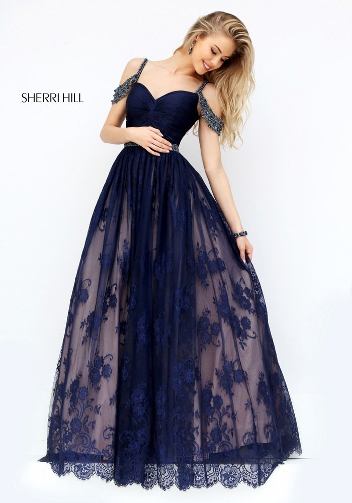 Sherri Hill 50595 Prom Dress in flowing lace #ipaprom