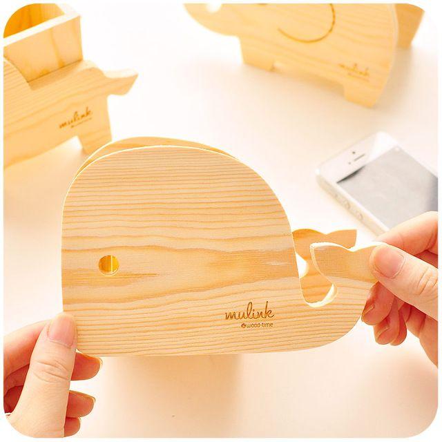 Wood desktop organizer pen creative various students  desktop Office products Korea stationery