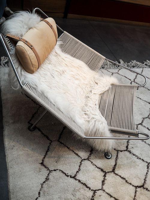 Pp Mobler Flag Halyard Chair By Hans Wegner Black The Line Wegner Lounge Chair Danish Furniture Design Wegner Chair