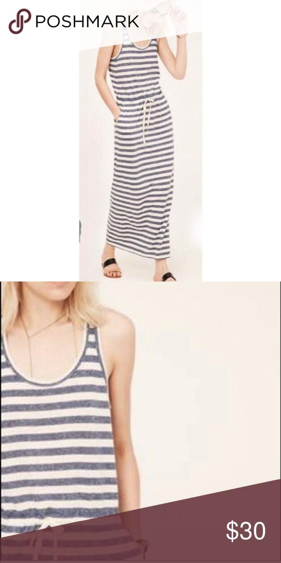 f7d8f7773ed2 Lou   Grey Sandy Striped Maxi Dress XS Waist Tie Lou   Grey Sandy Striped  Racerback Maxi Dress. Size XS 15.5