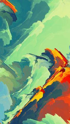 Strains, abstract, artwork, 1080x1920 wallpaper
