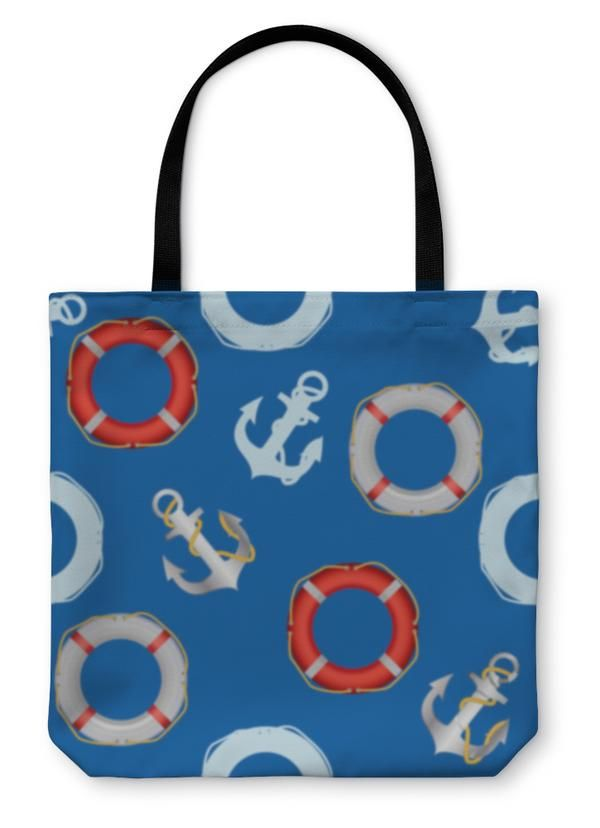 Tote Bag, Anchor Stencil An...
