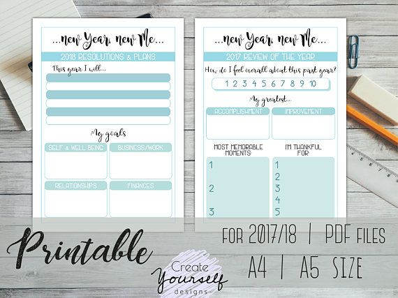 printable goal planner printable new years resolutions budget planner goals planner bullet journal inspiration