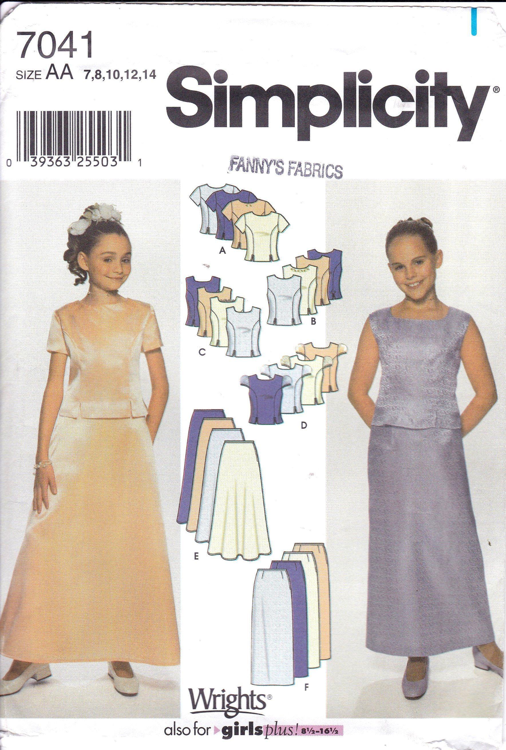 Girls piece formal dress evening length flared skirt or straight
