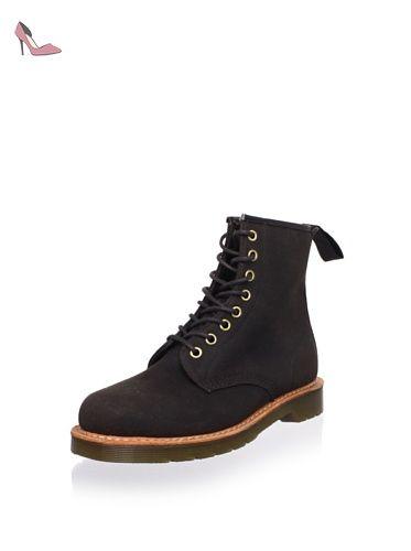 Dr Martens LARK-British Millerain Chera cire-Chaussures Bottes Marron foncé  - Marron -