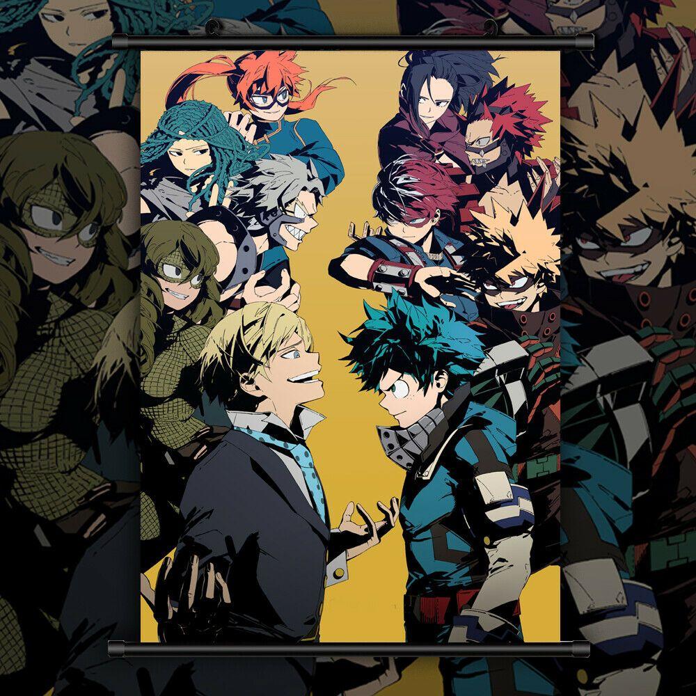 Boku No My Hero Academia Anime Hd Print Wall Poster Scroll