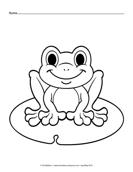 Coloring Pages Frog Butterfly Flower The Mailbox Frog Coloring Pages Coloring Pages Spring Coloring Pages