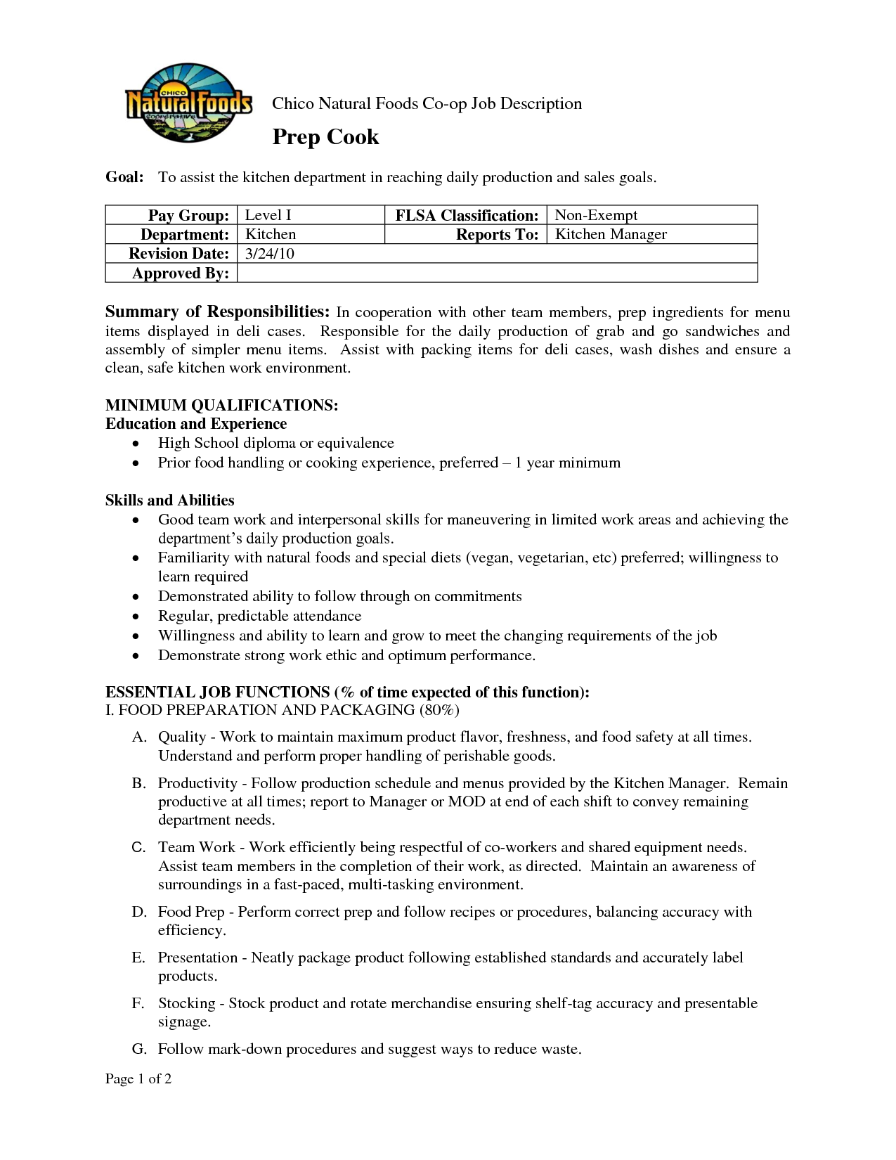 There Are Some Pictures Prep Cook Resume Formats What Sample