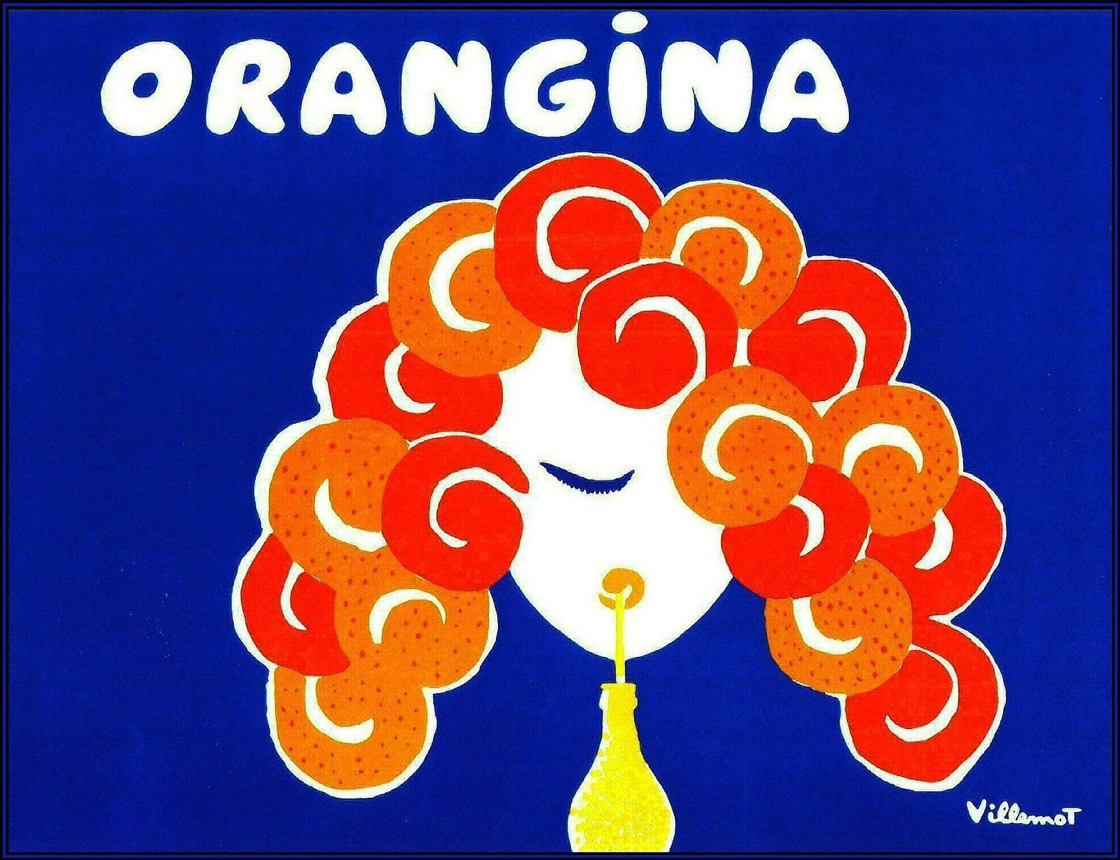 Poster Werbung Bernard Villemont Orangina Advertising Poster Collage