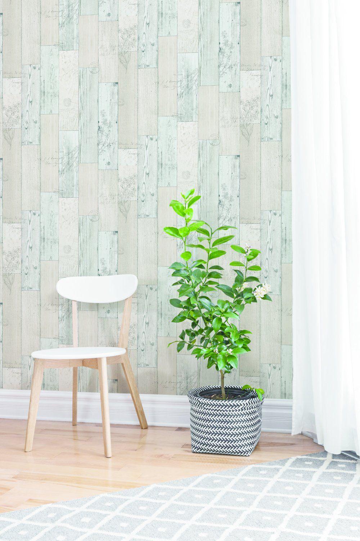 Robot Check Peel And Stick Wallpaper Wood Paneling Wood Panel Walls