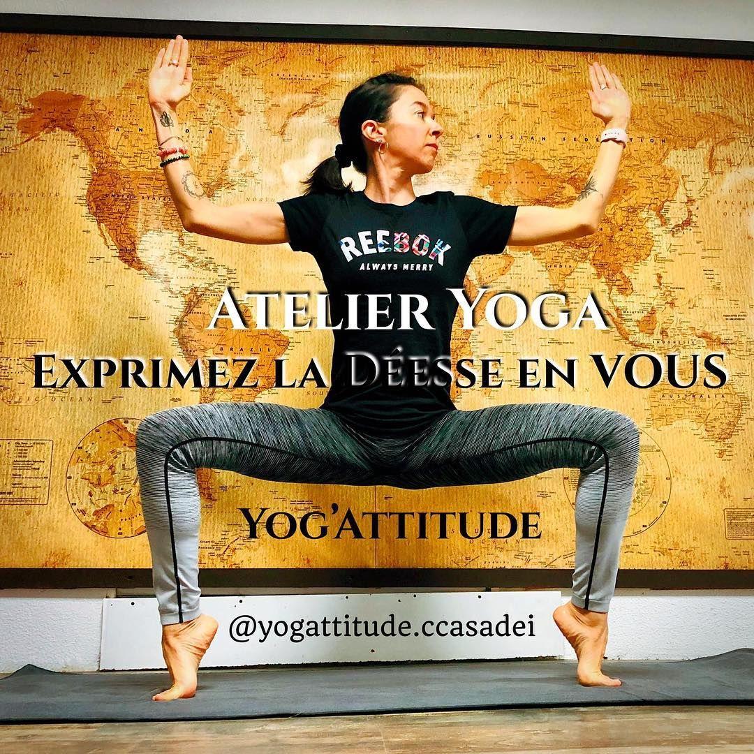 Exprimez la déesse en vous ! 👍😊🧘♀️ Namaste 🙏  #yoga #yogi #goddesspose #yogapose #yogalife  #yogalo...