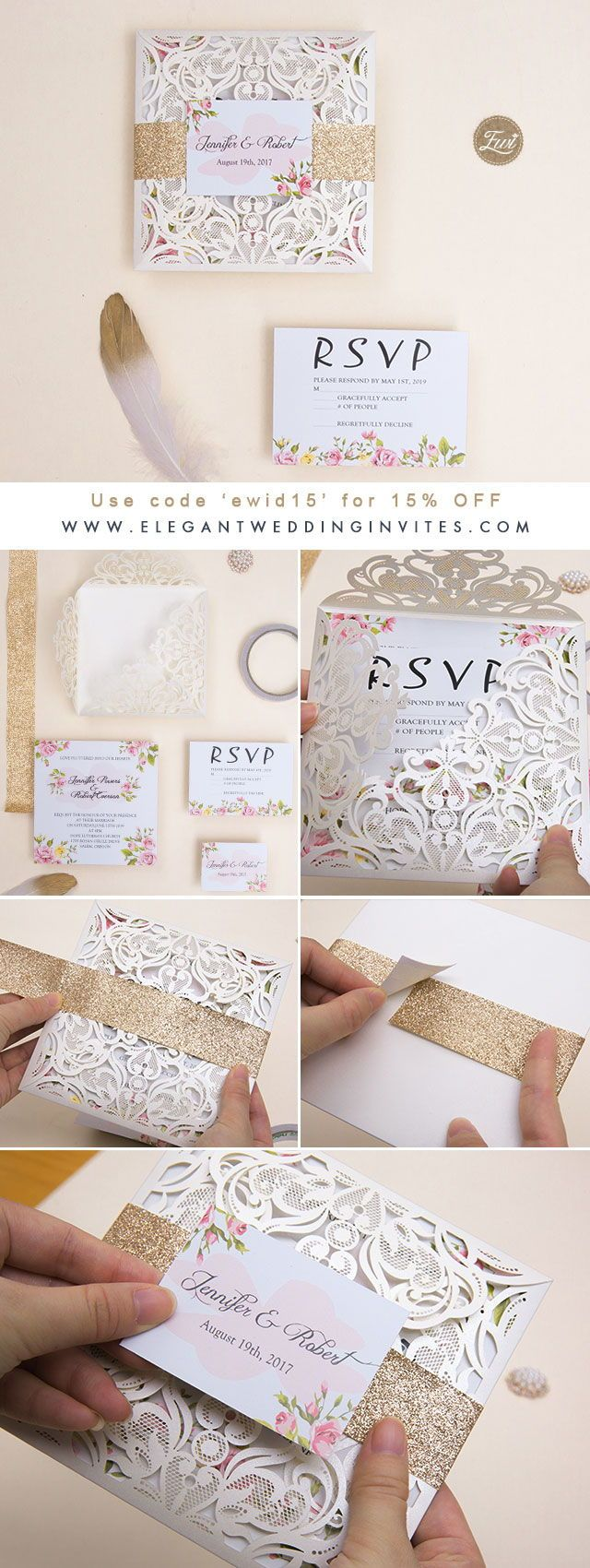 Wedding decorations using pallets october 2018 romantic peach flower spring ivory laser cut wedding invitations