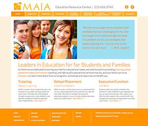 Web Design For Education By Soleil Nyc For Maia Education Resource Center Webdesignnyc Soleilnyc Graphic Design Company Web Design Nyc