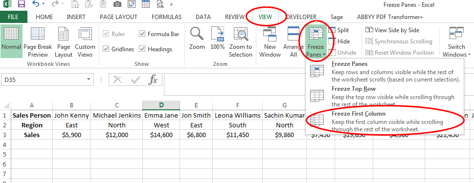 This Is An Excel Tutorial On How To Freeze Rows And Columns In Excel Freezing Rows And Columns Enables You To Keep An Area Of Excel Tutorials Excel Tutorial