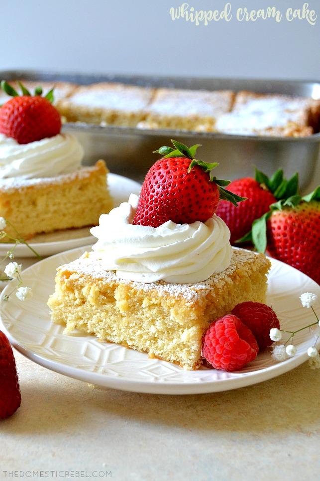 OldFashioned Whipped Cream Cake Recipe Fruit recipes